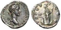 "Ancient Coins - Commodus as Caesar AR Denarius ""Salus Feeding Snake at Altar"" RIC 627 Scarce gVF"