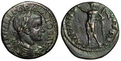 "Ancient Coins - Gordian III AE26 of Hadrianopolis Thrace ""Helios with Whip"" Good VF"