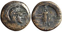 "Ancient Coins - Paphlagonia, Amastris AE29 ""Athena & Perseus, Slain Medusa Head"" Good VF"