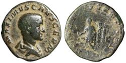 "Ancient Coins - Maximus as Caesar AE Sestertius ""Portrait & Prince of Youth"" Rome RIC 13 Fine"