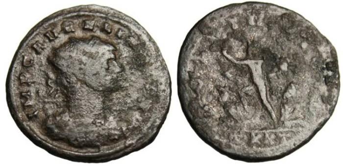 "Ancient Coins - Aurelian AE Ant. ""ORIENS AVG Sol"" Ticinum Mint RIC 151"
