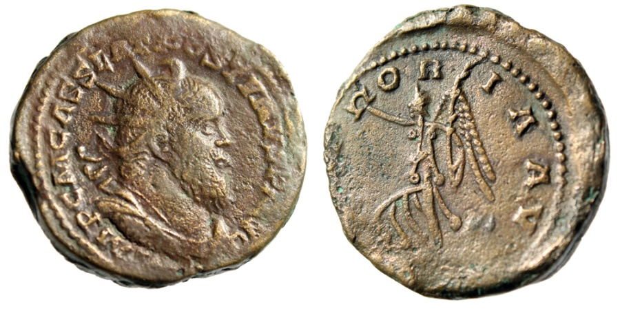 "Ancient Coins - Postumus Double Sestertius ""VICTORIA AVG Victory, Captive"" Cologne RIC 169 gVF"