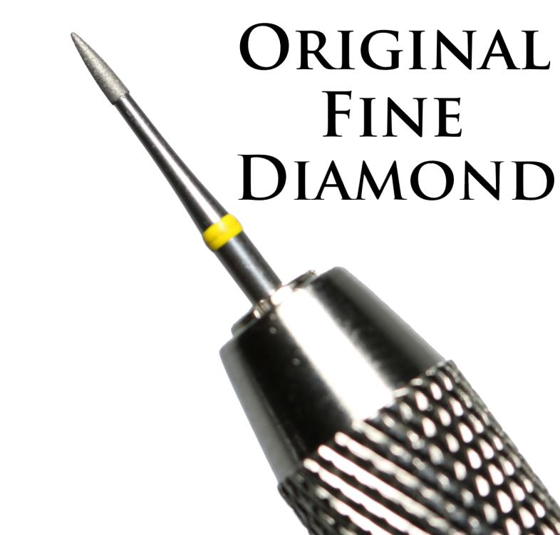 Ancient Coins - Fine Diamond Coated Pin + Double Ended Vice For Cleaning & Restoring Coins