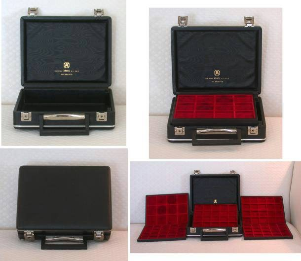 Ancient Coins - Abafil Mini-Diplomat case; holds 92 coins
