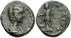Ancient Coins - Julia Domna denarius. Recent find with natural surfaces.