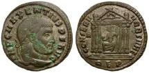 Ancient Coins - VF, partially silvered Maxentius follis.