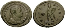Ancient Coins - VF Constantine I as Ceasar follis from London mint