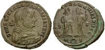 Ancient Coins - VF Rome mint Maximianus abdication follis.