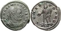 Ancient Coins - VF London mint 2nd reign Maximianus follis.