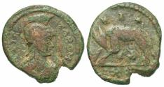 World Coins - Ostrogoths, Athalaric (526-534). Æ 20 Nummi (half follis)