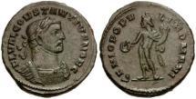 Ancient Coins - nEF Constantius I London mint follis.