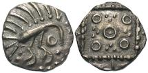 World Coins - VF Plumed bird sceat. Circa 695/700-710/5.
