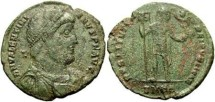 Ancient Coins - Scarce nVF, mildly diffusely rough, Valentinian I AE 1