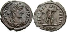 Ancient Coins - VF Constantius II AE 3; SPES REIPVBLICE reverse