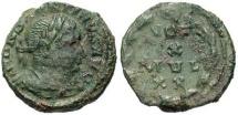 Ancient Coins - Rare VF Constantine I 1/4th follis; Trier mint