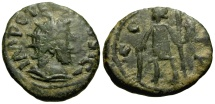 Ancient Coins - VF barbarous radiate imitating the coinage of Tetricus