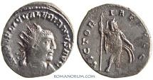 Ancient Coins - VALERIAN. (AD 253-260) Antoninianus, 3.06g.  Antioch VICTORIAE AVGG