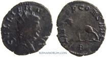 Ancient Coins - GALLIENUS. (AD 253-268) Antoninianus, 2.11g.  Rome. Tiger / Panther