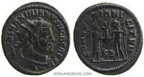 Ancient Coins - GALERIUS. (AD 293-311) Follis, 3.16g.  Cyzicus. CONCORDIA MILITVM. Great portrait, wonderful patina.