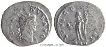 Ancient Coins - GALLIENUS. (AD 253-268) Antoninianus, 3.43g.  Antioch. Silvered.