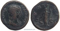 Ancient Coins - JULIA DOMNA. (Wife of Septimius Severus) As, 1064g.  Rome. Uncommon.