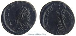 Ancient Coins - ARCADIUS. (AD 383-408) AE4, 1.22g.  Heraclea? SALVS REIPVBLICAE Fantastic portrait.