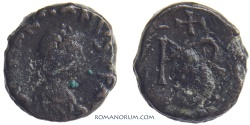 Ancient Coins - MARCIAN. (AD 450-457) AE4, 1.28g.  Constantinople. Monogram.