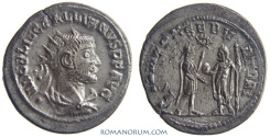 Ancient Coins - GALLIENUS. (AD 253-268) Antoninianus, 3.85g.  Samosata. Double strike. Quite rare.