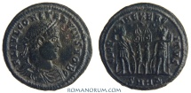 Ancient Coins - CONSTANTIUS II. (AD 337-361) AE3, 3.31g.  Heraclea. Three dots above. Featured in wildwinds.com