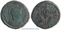 Ancient Coins - CRISPUS. (AD 317-326 ) AE3, 3.23g.  Trier. VIRTVS EXERCIT. Very scarce, almost rare with star on field.
