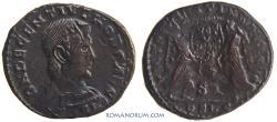 Ancient Coins - DECENTIUS. (AD 350-353) Centenionalis, 4.96g.  Lugdunum. Overstruck, probably on a Constantius II.