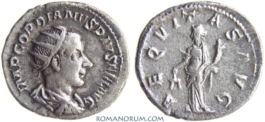 Lovely Roman Coin Silver Antoninianus Gordian Iii 238-244 Ad Aeqvitas Avg Coins Roman Imperial (235-476ad)