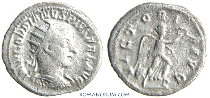 Ancient Coins - GORDIAN III. (AD 238-244) Antoninianus, 3.23g.  Antioch. VICTORIA AVG. Actually rare.
