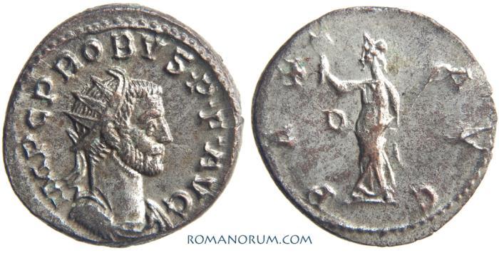 Ancient Coins - PROBUS. (AD 276-282) Antoninianus, 4.11g.  Lyon. PAX AVG