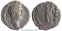 Ancient Coins - COMMODUS. (AD 180-192) Denarius, 2.74g.  Rome. Minerva. Var. with no shield at feet (unrecorded?)