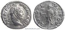 Ancient Coins - GETA. (AD 209-211) Denarius, 2.30g.  Rome. Scarce issue