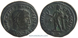 Ancient Coins - CONSTANTINE I, The Great . (AD 306-337) Follis, 3.18g.  Rome. SOLI INVICTO Legend break not in RIC