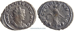 Ancient Coins - GALLIENUS. (AD 253-268 ) Antoninianus, 2.78g.  Mediolanum. VICTORIA AVGG Scarce with spread wings.