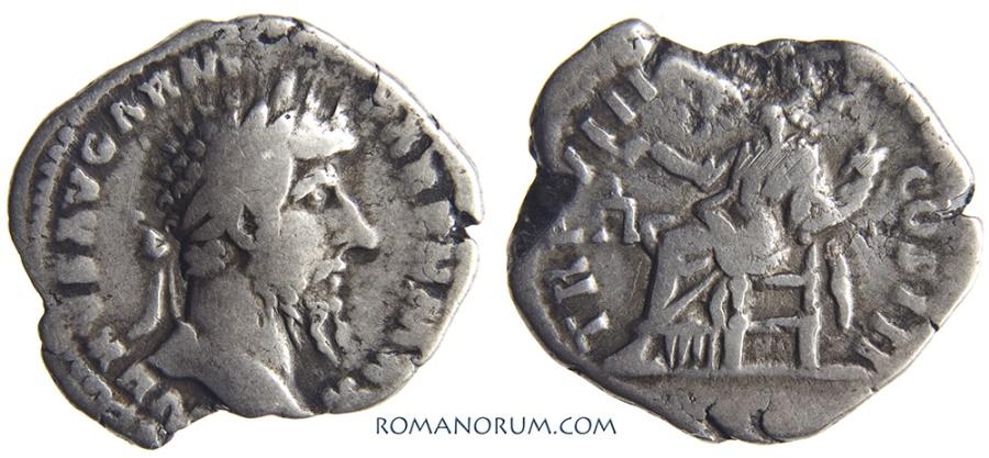 Ancient Coins - LUCIUS VERUS. (AD 161-169) Denarius, 2.76g.  Rome. Less common.