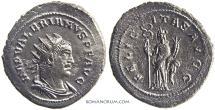 Ancient Coins - VALERIAN. (AD 253-260) Antoninianus, 4.24g.  Antioch. Large flan