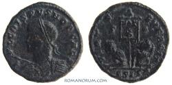 Ancient Coins - CRISPUS. (AD 317-326) AE3, 3.20g.  Siscia. VIRTVS EXERCIT Rarer obverse legend break