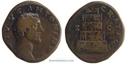 Ancient Coins - ANTONINUS PIUS. (AD 138-161 ) Sestertius, 21.08g.  Rome. CONSECRATIO / SC