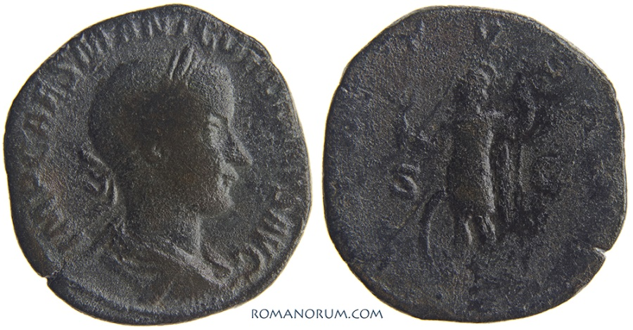 Ancient Coins - GORDIAN III. (AD 238-244) Sestertius, 16.52g.  Rome.
