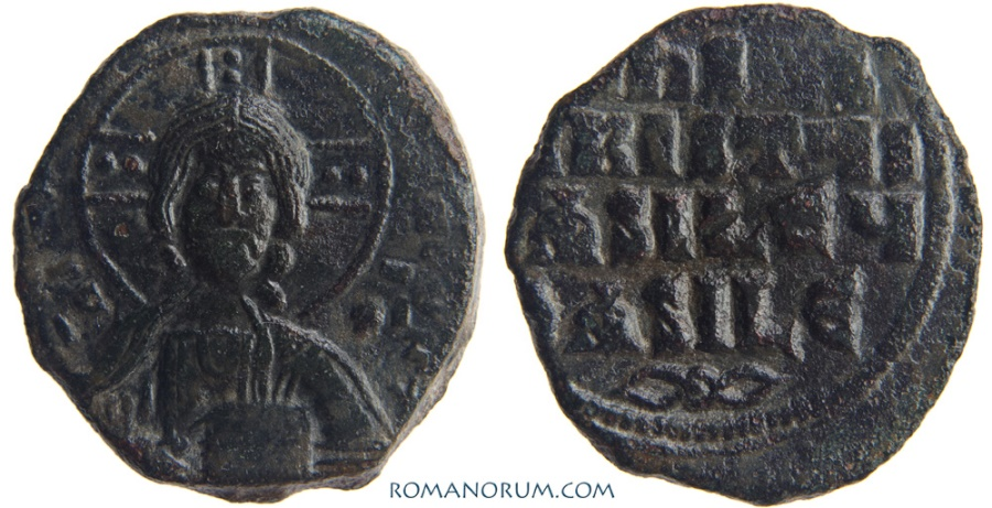 Ancient Coins - CONSTANTINE VIII. Class A3 Anonymous follis.. (AD 1025-28) Follis, 9.19g.  Constantinopla. A nice specimen, with scarcer Grierson ornament