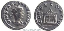 Ancient Coins - VALERIAN II. (AD 256-58) Antoninianus, 3.24g.  Rome CONSECRATIO Scarce.