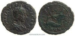 Ancient Coins - JULIA MAMAEA. (AD 180-235) AE 23, 8.17g.  Istros, Moesia Inferior. EAGLE AND DOLPHIN.