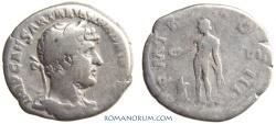 Ancient Coins - HADRIAN. (AD 117-138) Denarius, 3.05g.  Rome. Genius