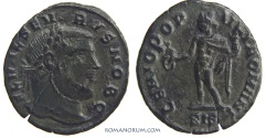 Ancient Coins - SEVERUS II. (AD 305-06) Quarter follis, 2.07g.  Siscia. Nice patina.