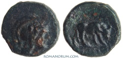 Ancient Coins - MACEDONIA, THESSALONICA. (187-131 BC) AE15, 4.96g.  Bull Grazing
