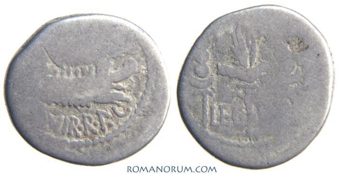 Ancient Coins - MARK ANTONY. Denarius, 3.01g.   LEG